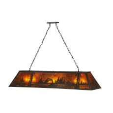 "60"" L Northwoods Leaping Trout Oblong Pendant"