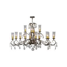 "62"" L Windsor 14 Lt W/Crystals Oblong Chandelier"
