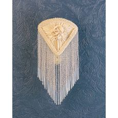 "5.5"" W X 10"" H Fabric & Fringe Ivory Pontiff Night Light"