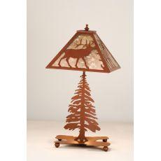 """21.5"""" H Lone Elk Table Lamp"""