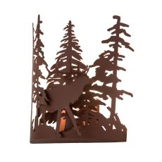 """11"""" W Elk Through The Trees Wall Sconce"""