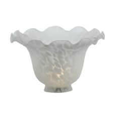 """7"""" W Fluted Bell White Shade"""