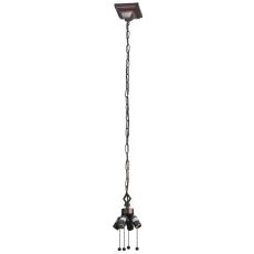 MISSION 4 LIGHT PULLCHAIN HANGING FIXTURE