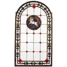 "23"" W X 40"" H Lamb Of God Stained Glass Window"