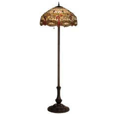 "63"" H Tiffany Hanginghead Dragonfly Floor Lamp"