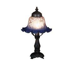 "12.5"" H Bell Pink & Blue Mini Lamp"