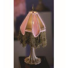 """10"""" H Fabric & Fringe Arbesque Mini Lamp"""