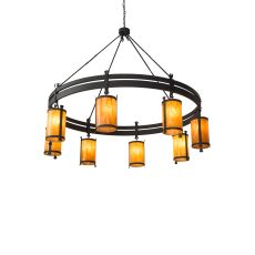 "84"" W Beartooth 8 Lt Chandelier"