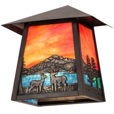 """9"""" W Stillwater Deer Lodge Wall Sconce"""