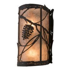 "8"" W Whispering Pines Left Wall Sconce"