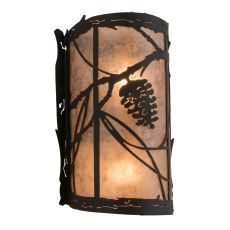 "8"" W Whispering Pines Right Wall Sconce"