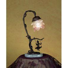 "14"" H Cherub On Swing Accent Lamp"