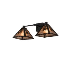 """26"""" W Pinecone 2 Lt Wall Sconce"""