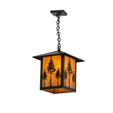 "12"" Sq Seneca Great Pines Pendant"