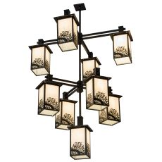"48"" W Hyde Park Apple Branch 9 Lt Chandelier"