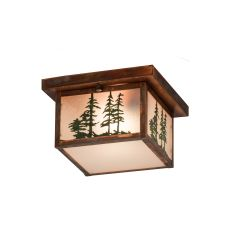 "10"" Sq Hyde Park Tall Pines Flushmount"