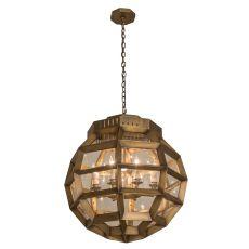 "26"" W Armoury Globe Pendant"