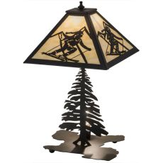 """22"""" H Alpine W/Lighted Base Table Lamp"""