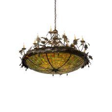 "55"" W Greenbriar Oak Inverted Pendant"