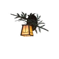 """16"""" W Pine Branch Valley View Left Wall Sconce"""