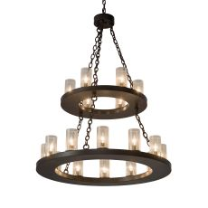 "36"" W Loxley 18 Lt Two Tier Chandelier"