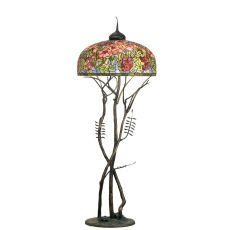 "74"" H Tiffany Oriental Poppy Floor Lamp"