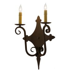 """12"""" W Angelique 2 Lt Wall Sconce"""