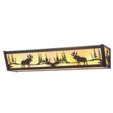 """24"""" W Moose At Lake Vanity Light"""