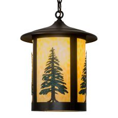 "14"" W Fulton Tall Pines Pendant"
