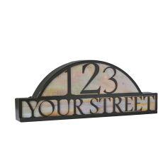 """24.5"""" W Personalized Street Address Sign"""
