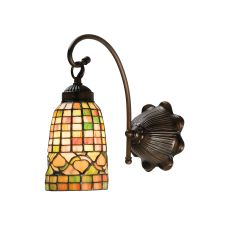 "6"" W Tiffany Acorn Wall Sconce"