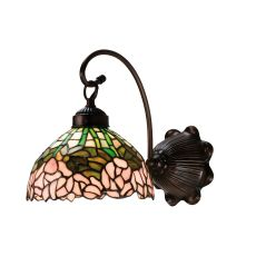 """8"""" W Cabbage Rose Wall Sconce"""