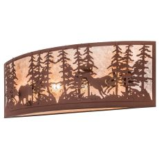 "36"" W Wildlife At Dusk Wall Sconce"