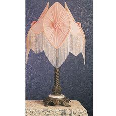 """15"""" H Fabric & Fringe Pink Pontiff Accent Lamp"""