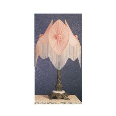 "28"" H Fabric & Fringe Pink Pontiff Table Lamp"