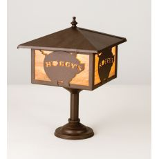 """10"""" Sq Hoggy'S Bar Mount Lantern"""