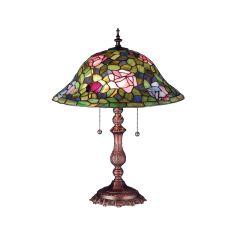 """22"""" H Tiffany Rosebush Table Lamp"""