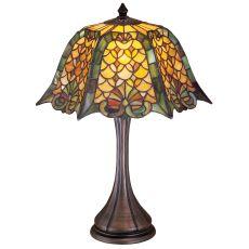 "21"" H Duffner & Kimberly Shell & Diamond Table Lamp"