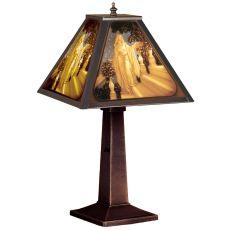 """18.5"""" H Maxfield Parrish Cinderella Porcelain Lithophane Accent Lamp"""