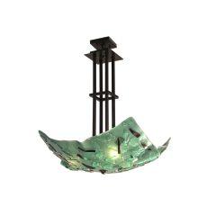 "26"" W Metro Fusion Seaweed Inverted Pendant"