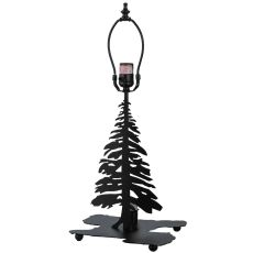 "14"" H Tall Pines W/Lighted Base Table Base"