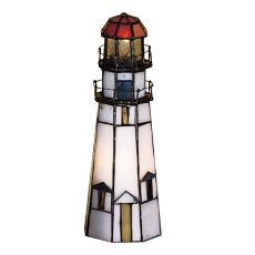 "9"" H The Lighthouse On Marble Head Accent Lamp"