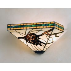 """14"""" W Honey Pine Branch Mission Wall Sconce"""
