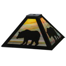 "12"" Sq Lone Bear Shade"