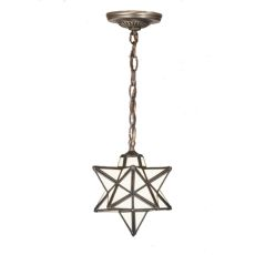 "9"" W Moravian Star White Mini Pendant"