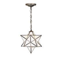 """12"""" W Moravian Star White Pendant"""