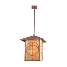 "16"" Sq Seneca Circle Cross Lantern Pendant"