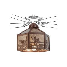 "13"" W Fly Fisherman Fan Light"