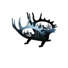 """22"""" L Moose Antler Log Holder"""