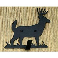 """4"""" W Lone Deer Single Key Holder"""